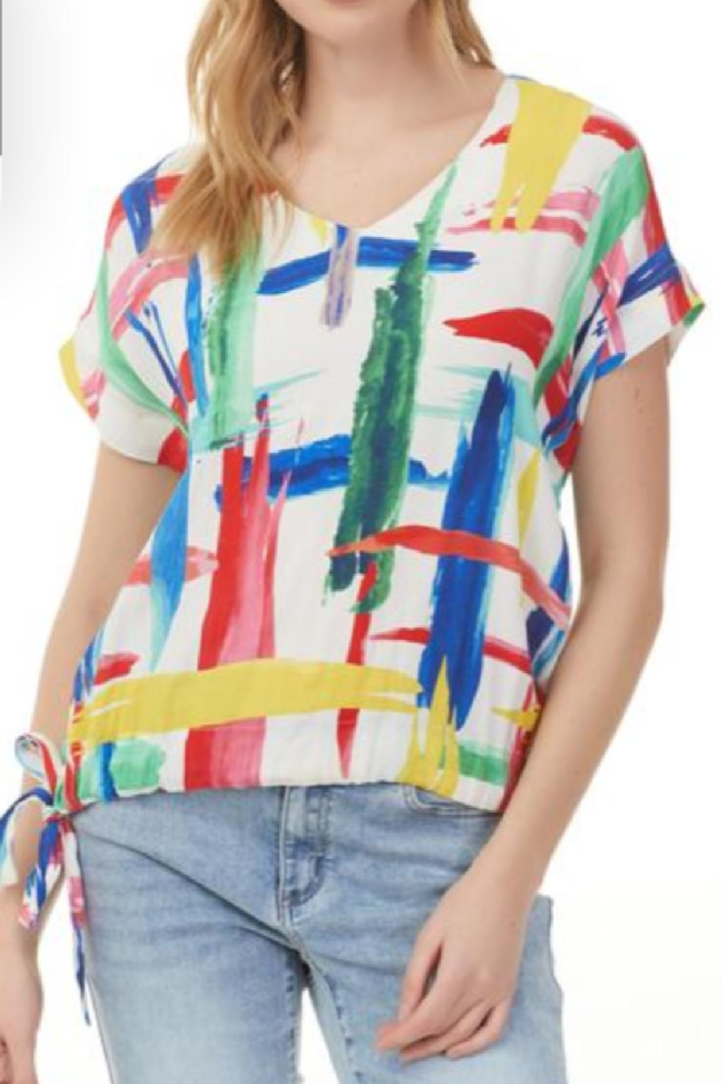 Charlie B. Abstract Side Tie Top - Main Image