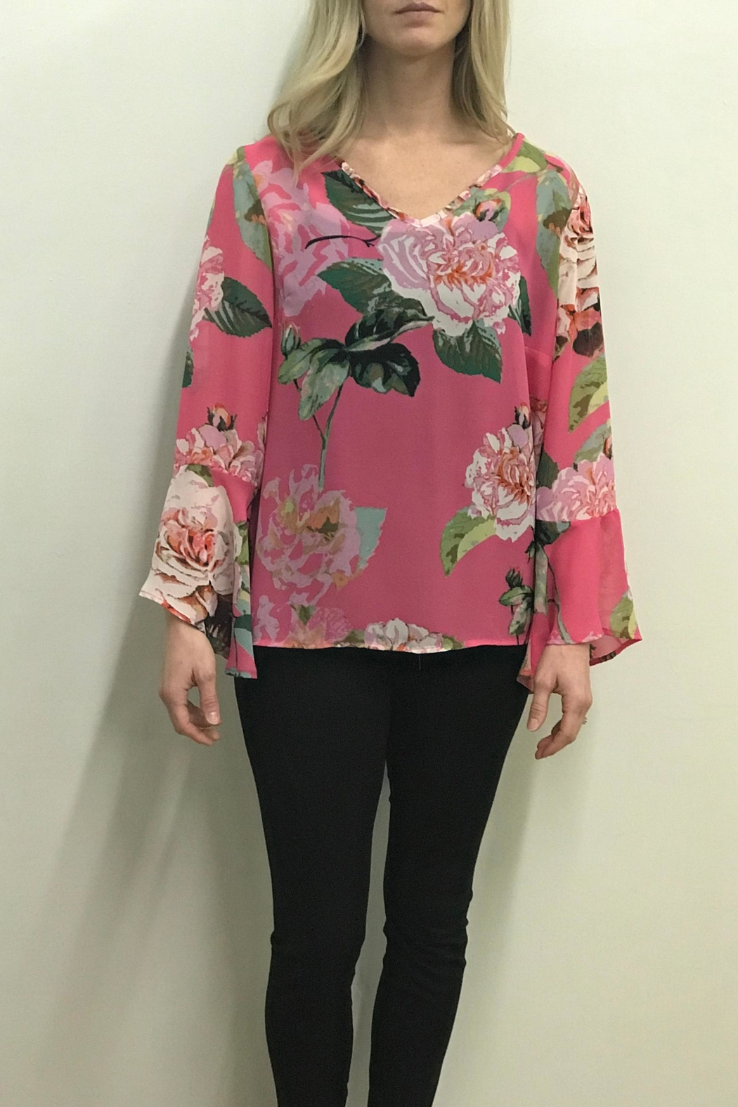 Charlie B. Cabbage Rose Blouse - Main Image