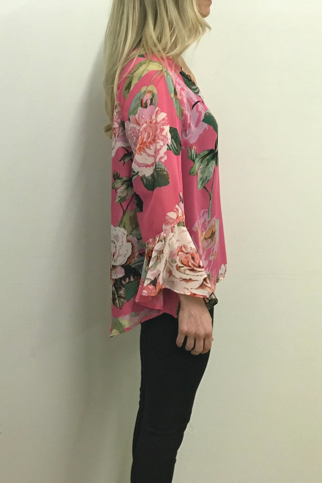 Charlie B. Cabbage Rose Blouse - Front Full Image
