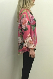 Charlie B. Cabbage Rose Blouse - Front full body