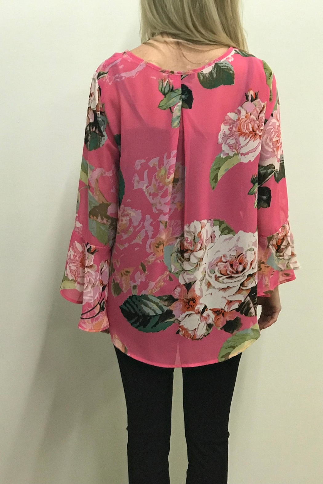 Charlie B. Cabbage Rose Blouse - Side Cropped Image