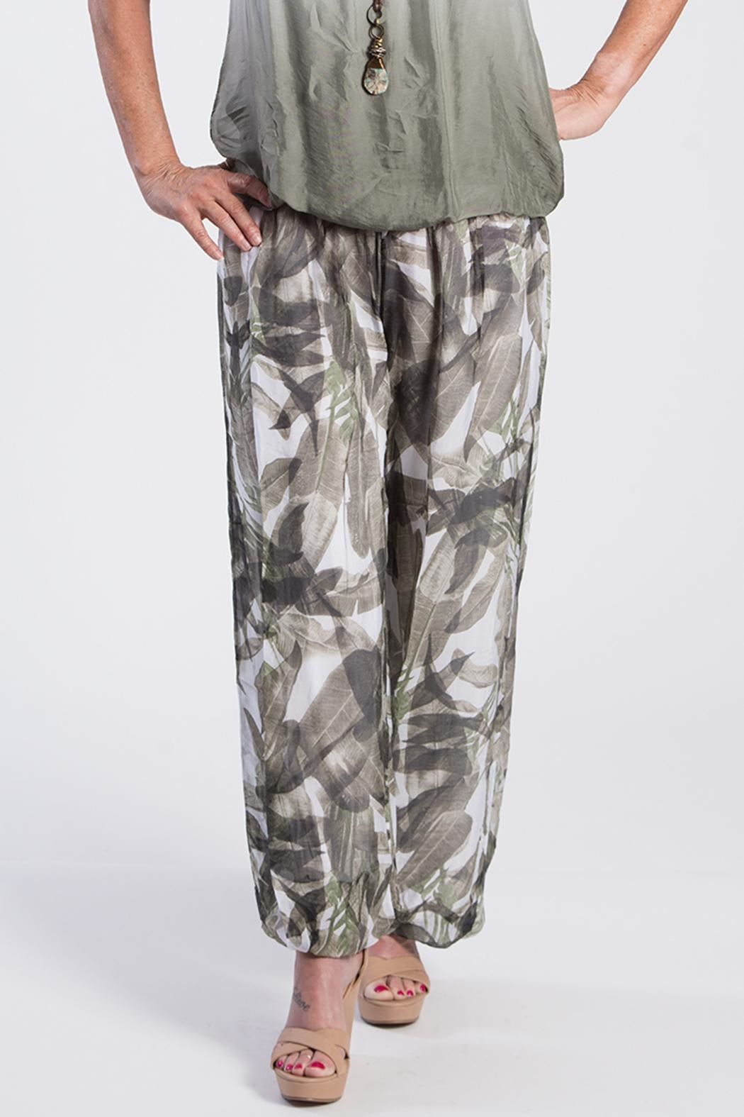 Charlie B. Cactus Silk Pant - Side Cropped Image