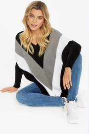 Charlie B. Chevron Sweater Poncho - Front cropped