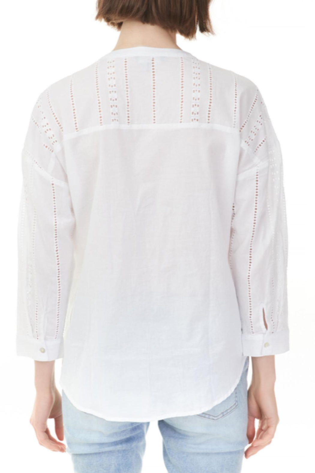 Charlie B. Cotton Eyelet Top - Front Full Image