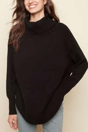 Charlie B. Cozy Black Sweater - Front cropped