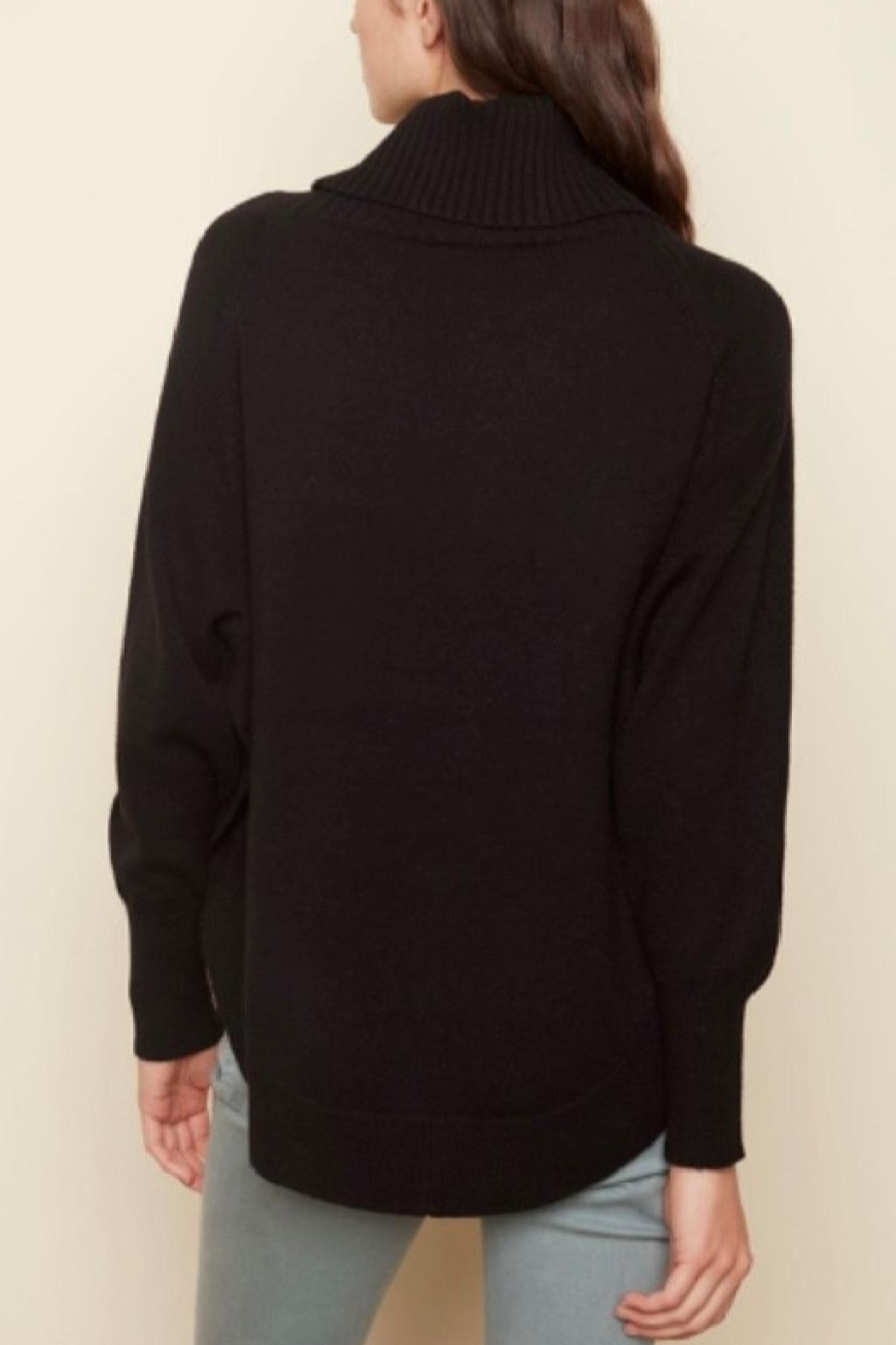 Charlie B. Cozy Black Sweater - Front Full Image