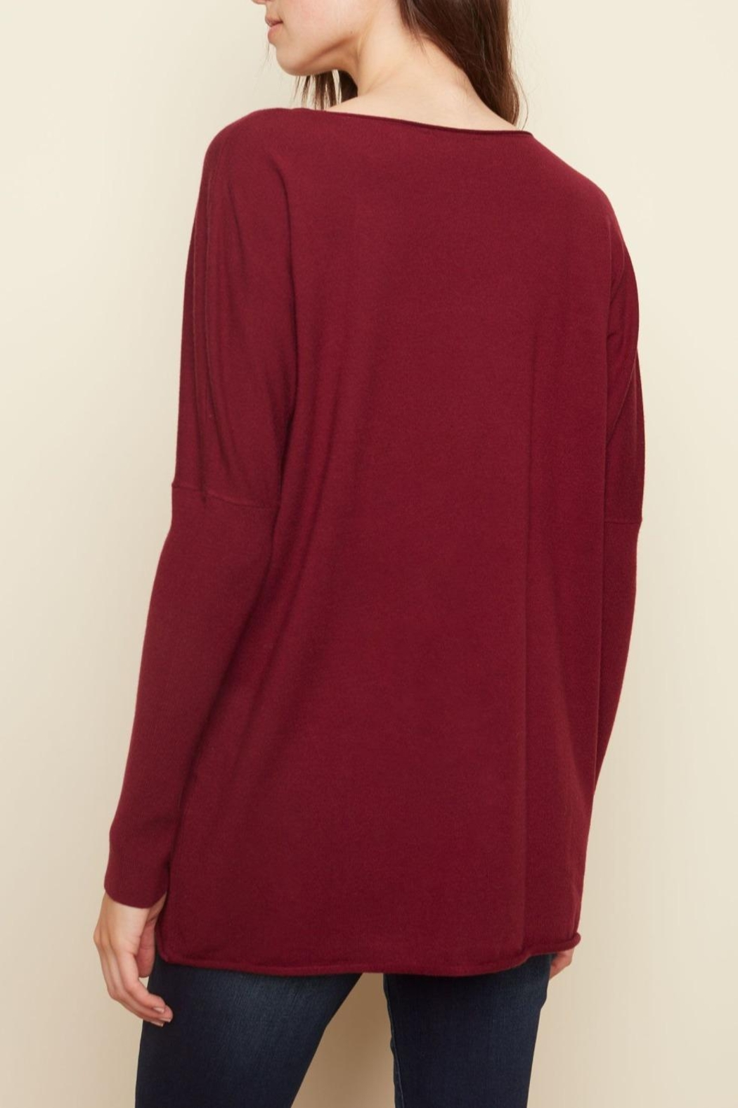 Charlie B. Cranberry Oversized Sweater - Front Full Image