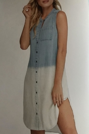 Charlie B. Denim Ombre Dress - Product Mini Image
