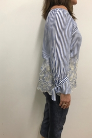Charlie B. Embroidered Blouse - Front full body