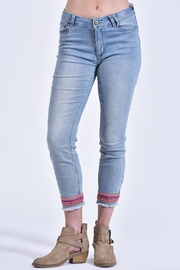 Charlie B. Embroidered Trim Jeans - Product Mini Image