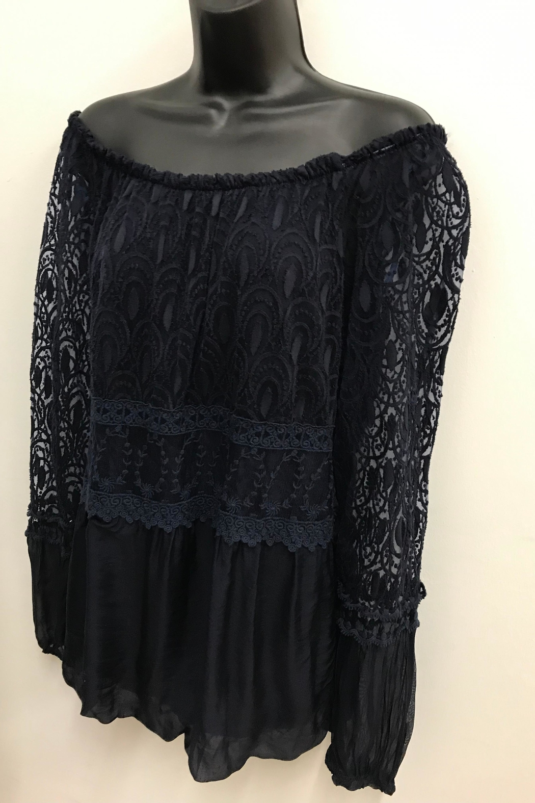 Charlie B. Exquisite Lace Blouse - Front Full Image