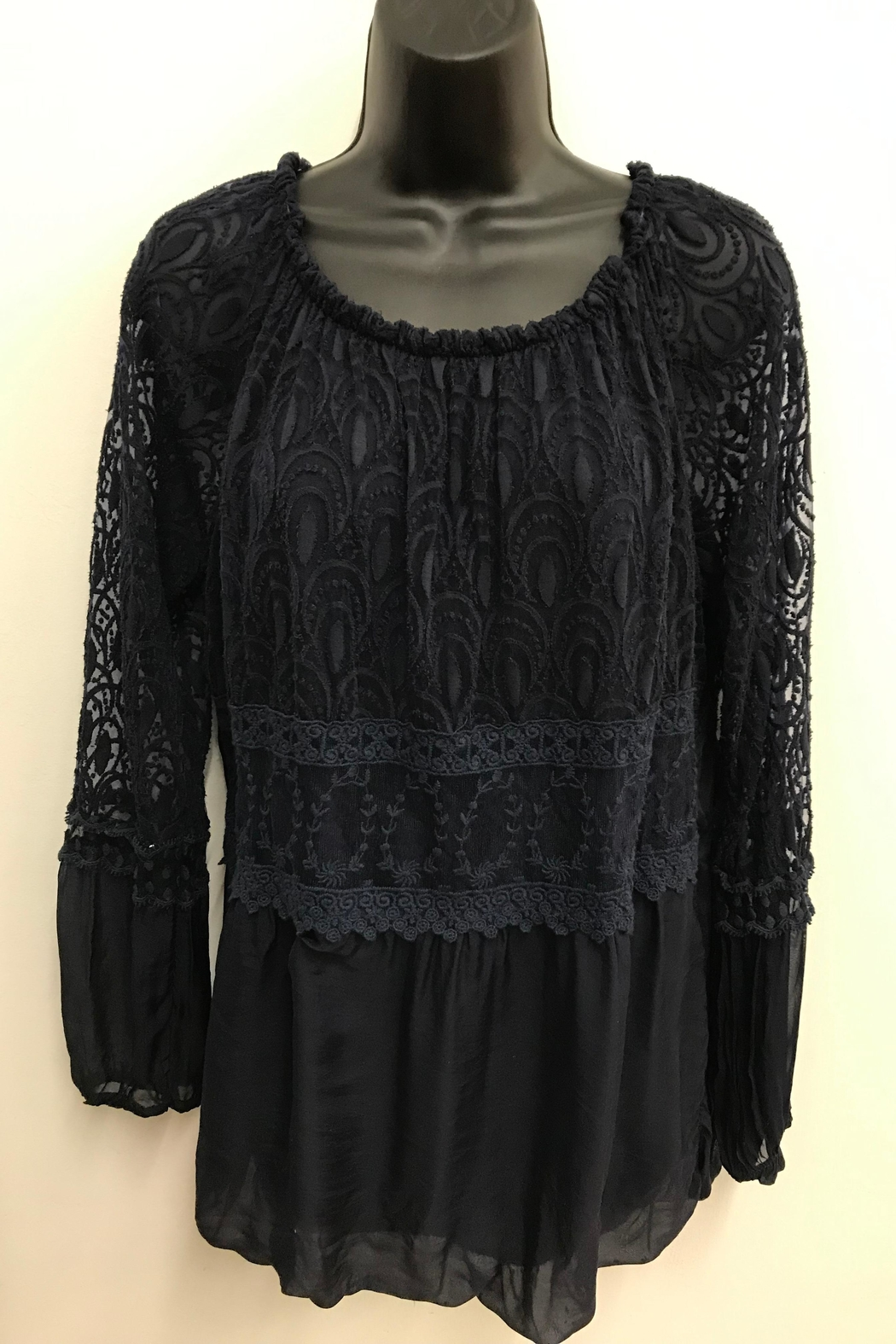 Charlie B. Exquisite Lace Blouse - Side Cropped Image
