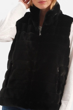 Charlie B. Faux Fur Reversible Vest - Product List Image