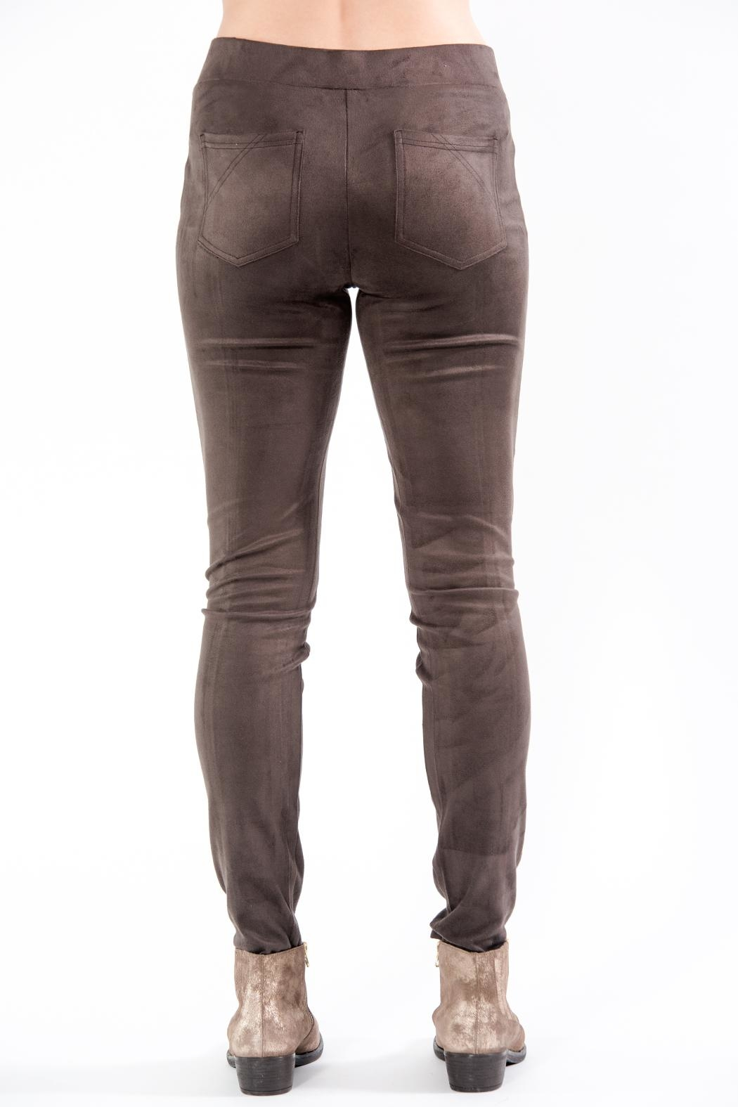Charlie B. Faux Suede Pant - Front Full Image
