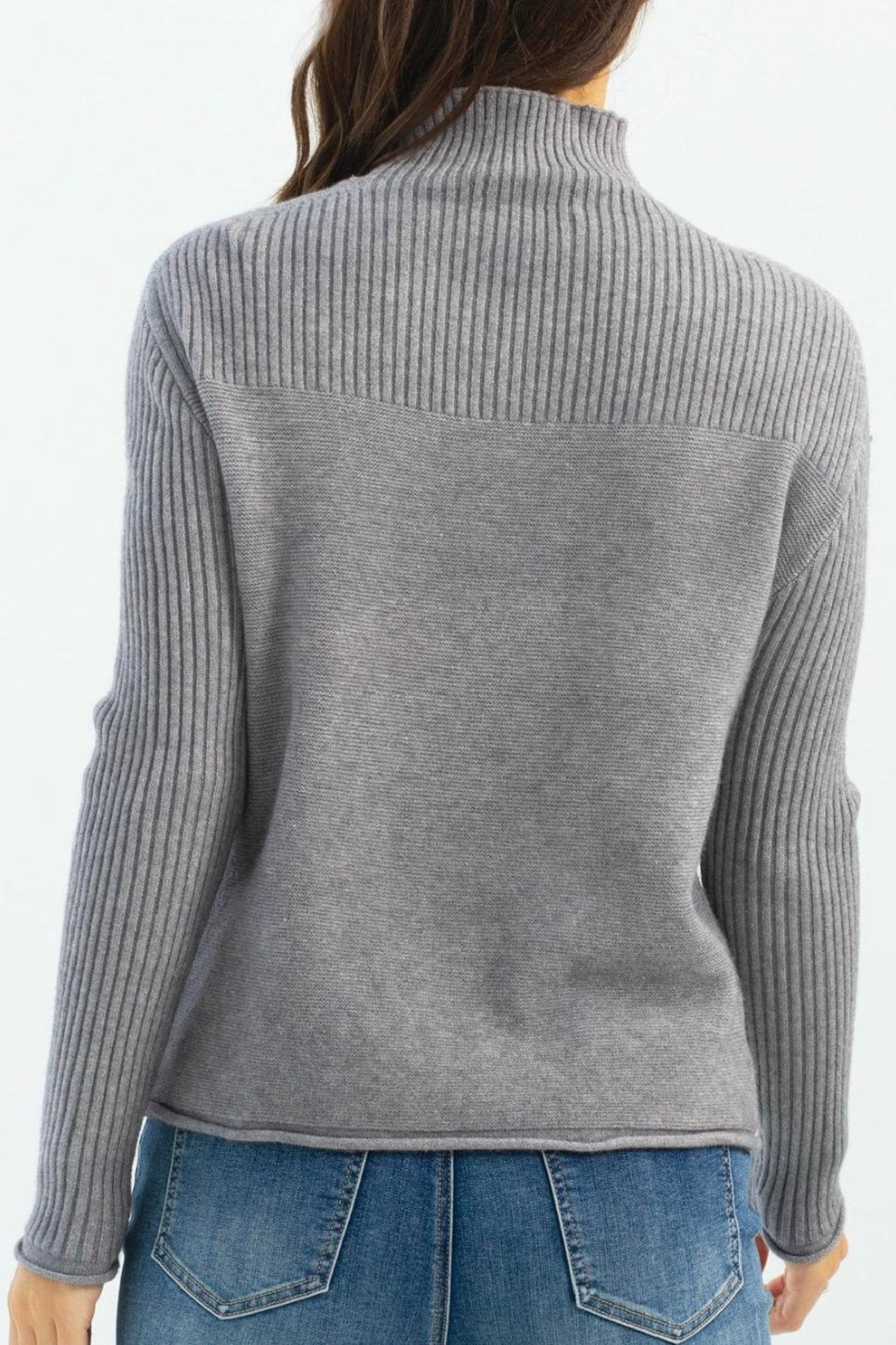 Charlie B. Funnel Neck Sweater - Front Full Image