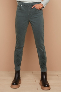 Charlie B. Green Jeans With Applique - Product List Image