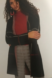 Charlie B. Hooded Plaid Cardigan - Front full body