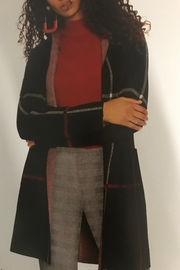 Charlie B. Hooded Plaid Cardigan - Front cropped