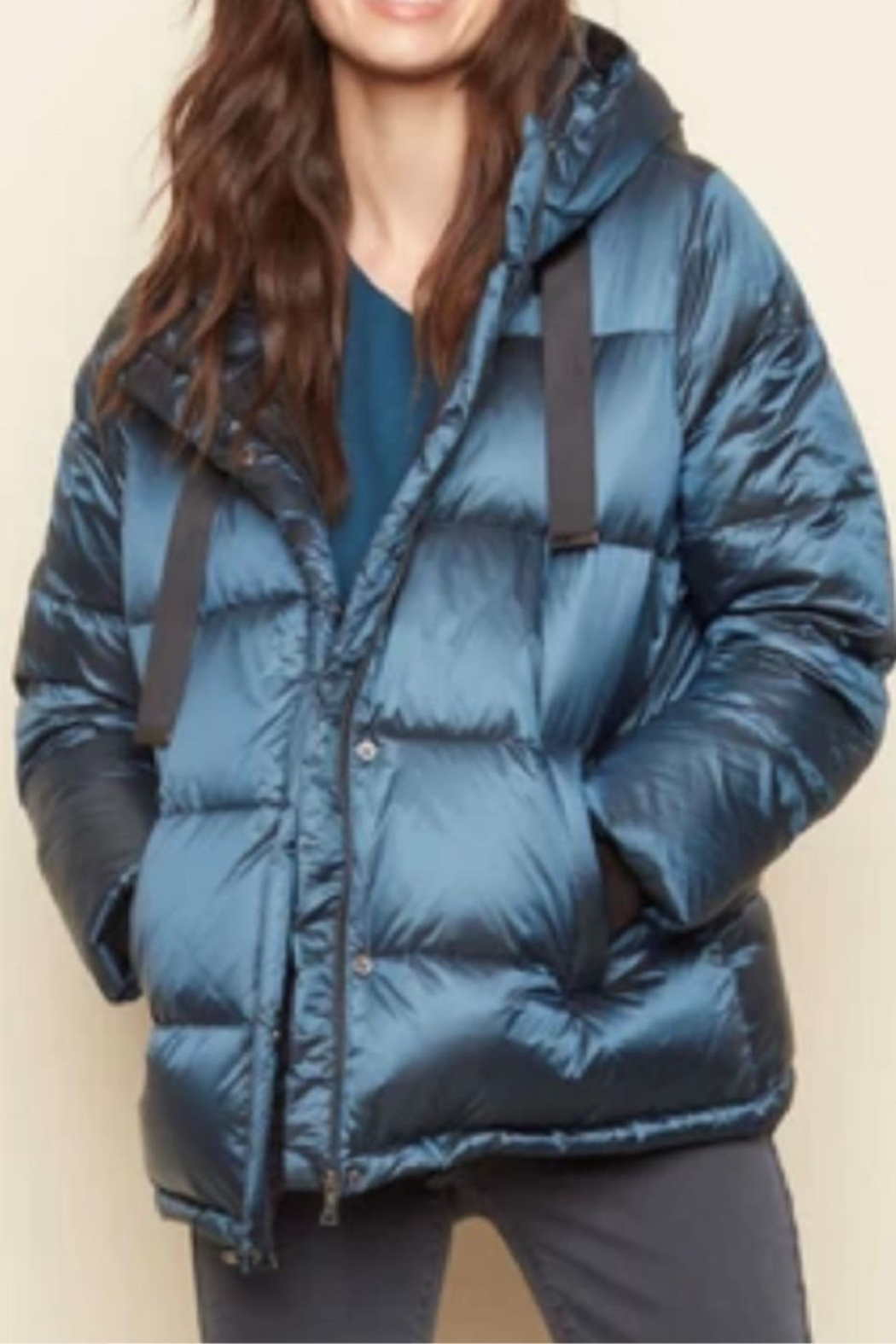 Charlie B. Iridescent Puffer Jacket - Front Cropped Image