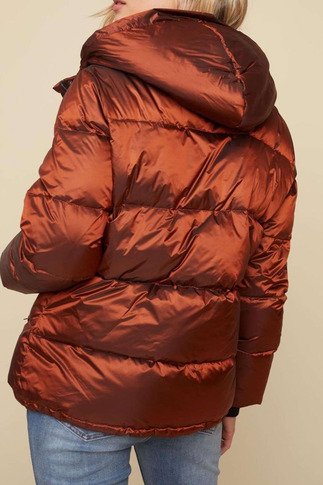 Charlie B. Iridescent Puffer Jacket - Front Full Image