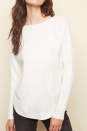 Charlie B. Lace Back Sweater - Side cropped