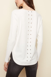 Charlie B. Lace Back Sweater - Front full body