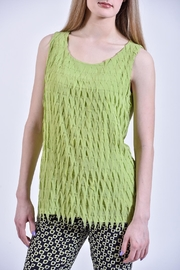 Charlie B. Lime Fringe Top - Product Mini Image