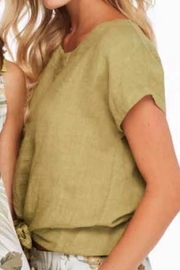 Charlie B. Linen Tie Top - Front cropped