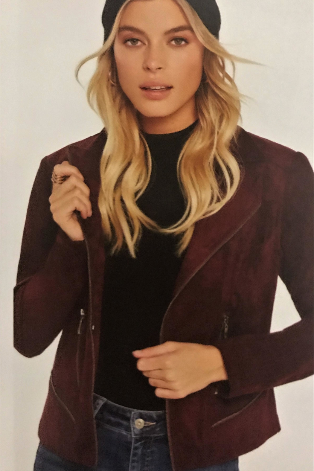 Charlie B. Luxerious Faux Suede Jacket - Main Image