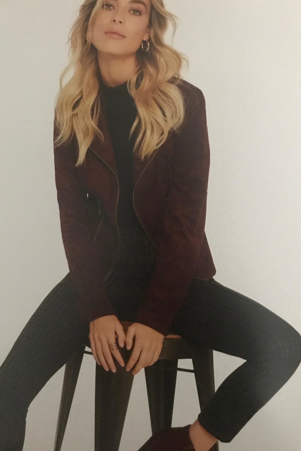 Charlie B. Luxerious Faux Suede Jacket - Front Full Image