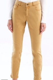 Charlie B. Mustard Stretch Jeans - Product Mini Image