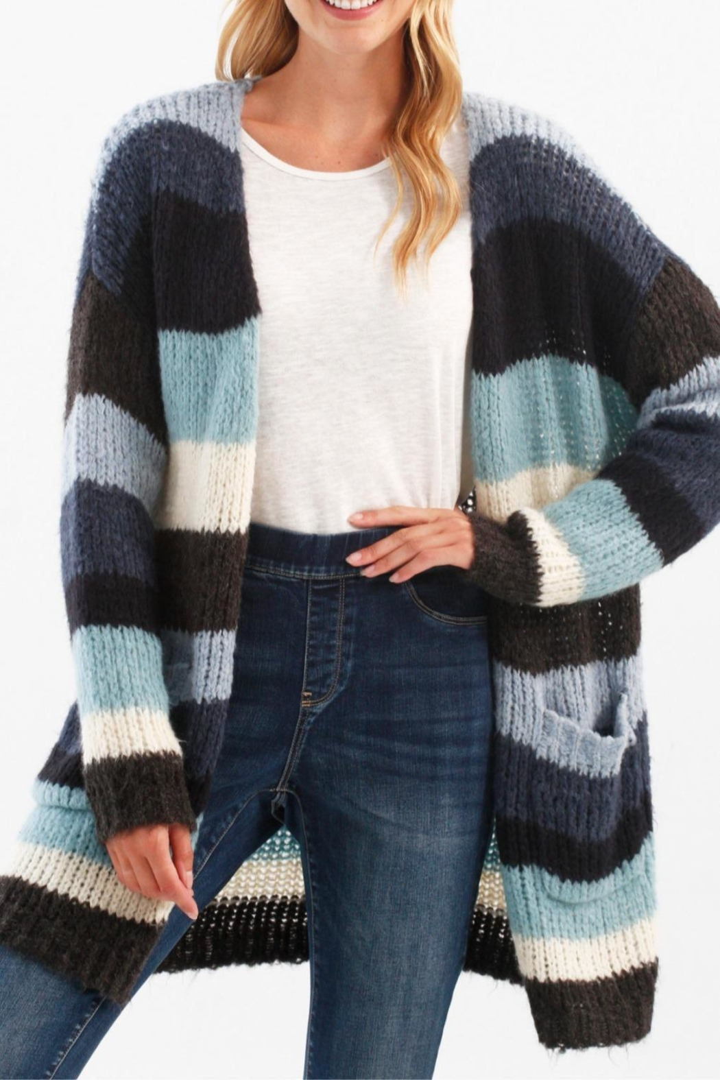 Charlie B. Open Boyfriend Cardie (2 Colors) - Front Cropped Image