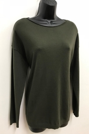 Charlie B. Pearl Back Sweater - Front cropped