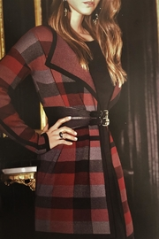 Charlie B. Plaid Knit Cardigan - Front cropped
