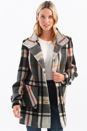Charlie B. Plaid Pea Coat - Product Mini Image