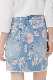 Charlie B. Print Denim Skort - Front full body