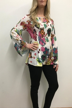 Shoptiques Product: Printed Smocked Top