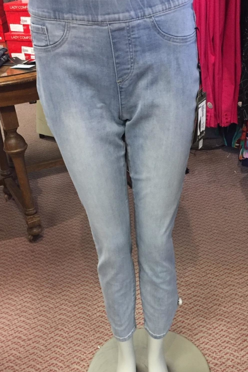 Charlie B. Pull On Ankle Denim With Bow - Main Image