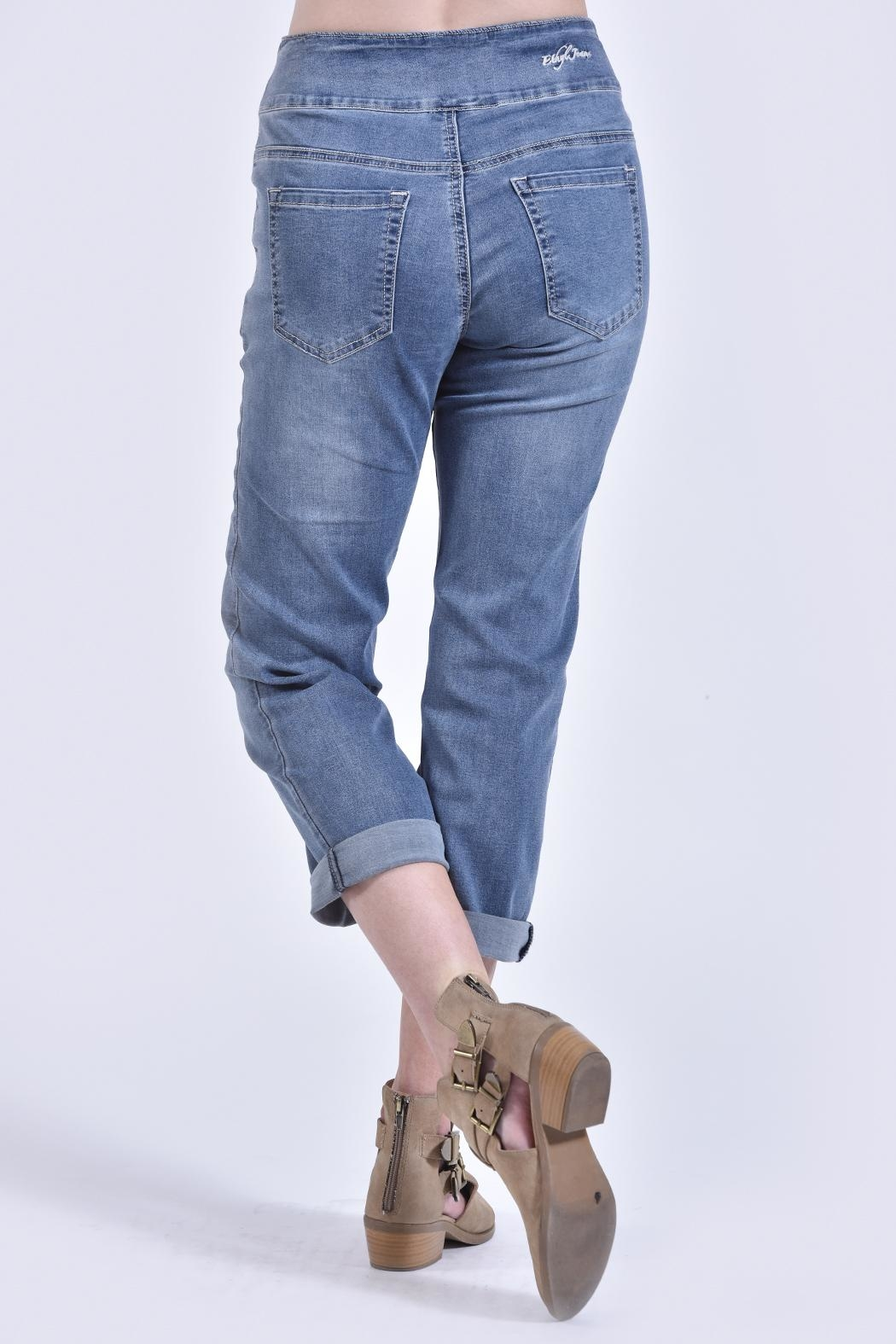 Charlie B. Pull-On Jeans - Front Full Image