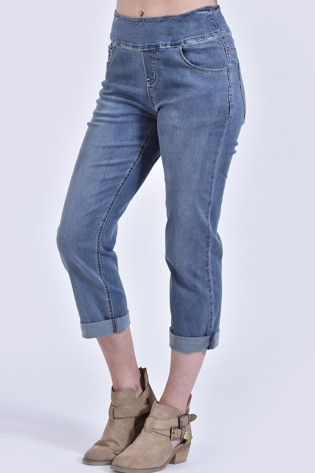 Charlie B. Pull-On Jeans - Main Image