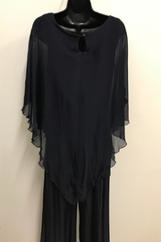 Charlie B. Silk Poncho Blouse - Front full body
