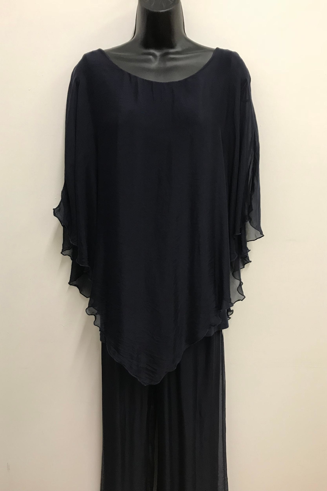 Charlie B. Silk Poncho Blouse - Front Cropped Image