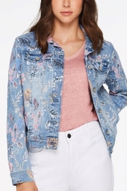 Charlie B. Soft Floral Print Jean Jacket - Product Mini Image