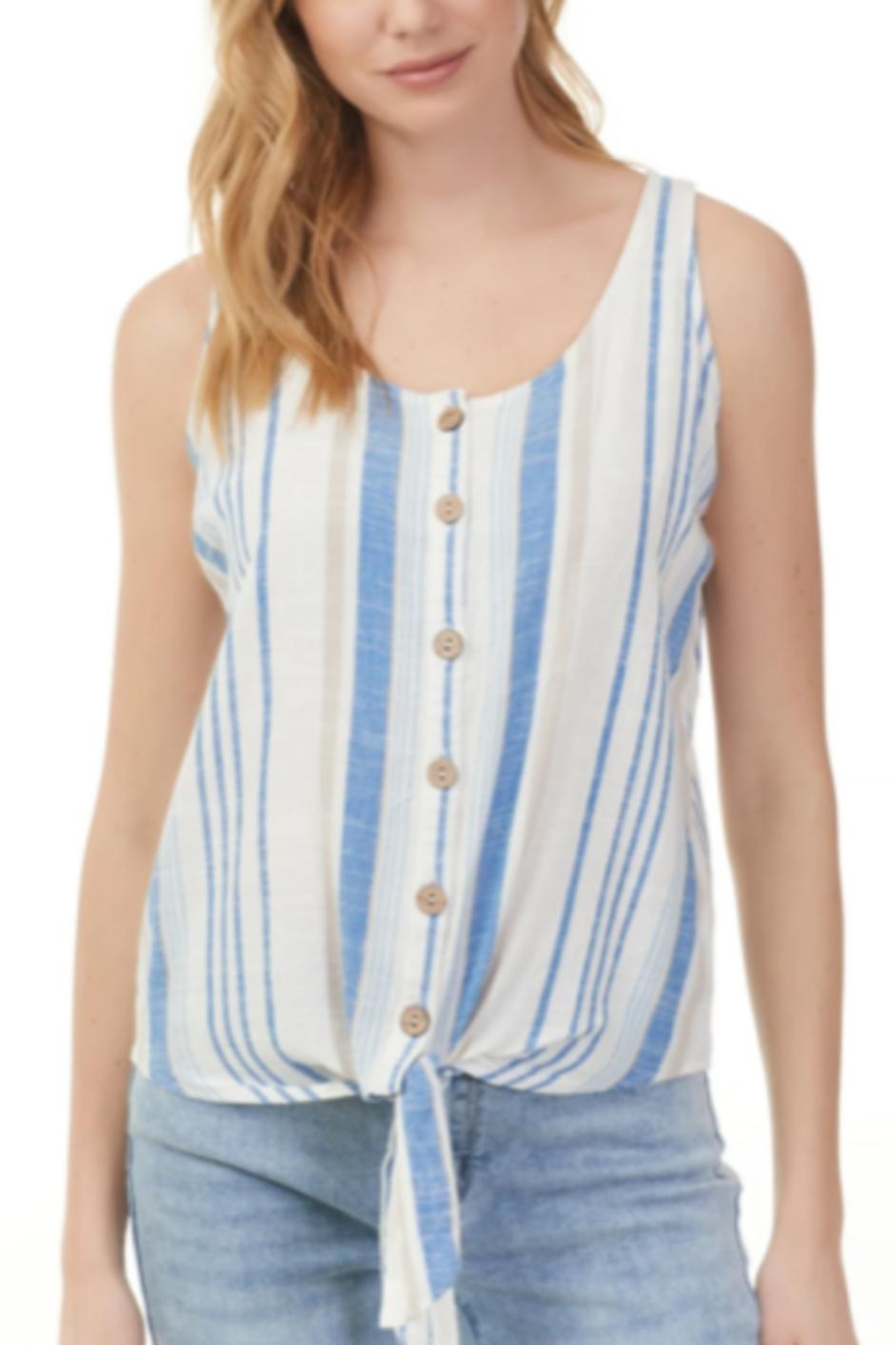 Charlie B. Stripe Tie Tank - Front Cropped Image