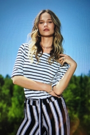 Charlie B. Striped Tie Top - Product Mini Image