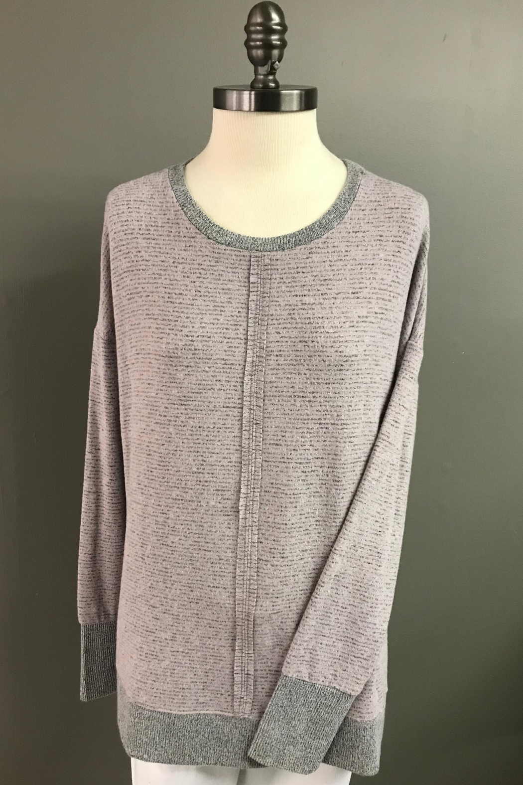Charlie B. Subtle Stripe Tunic Sweater - Main Image