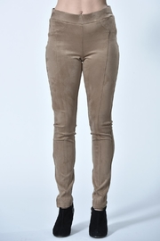 Charlie B. Tan Suede Pants - Front cropped
