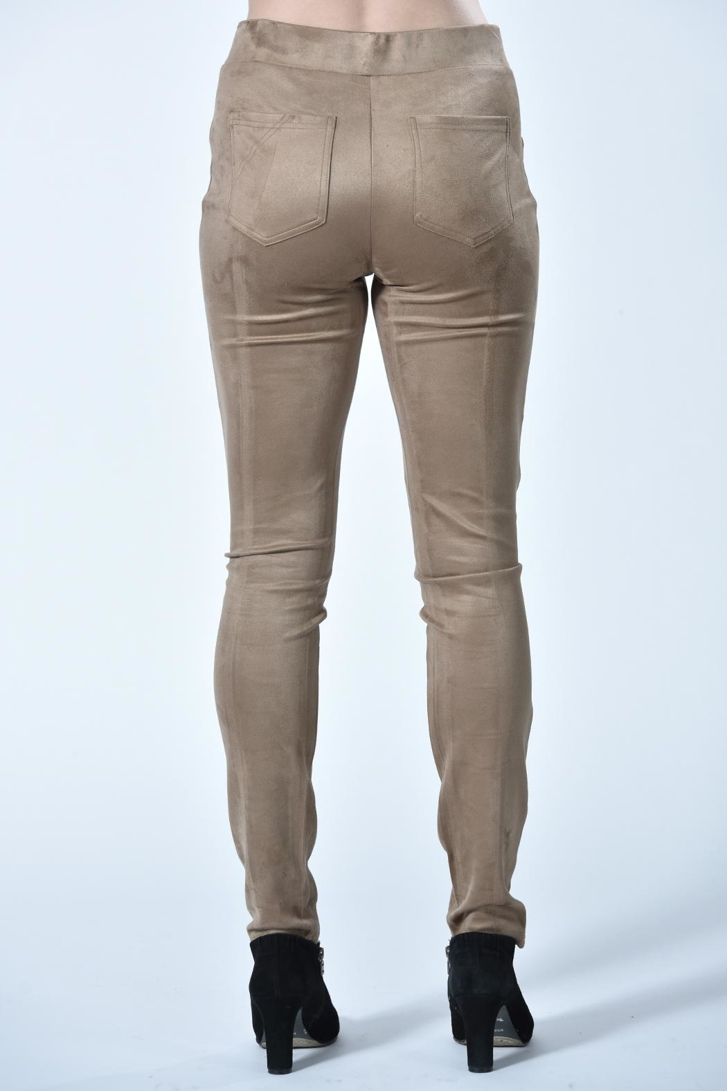 Charlie B. Tan Suede Pants - Front Full Image