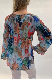 Charlie B. Tropical Smocked Top - Front full body