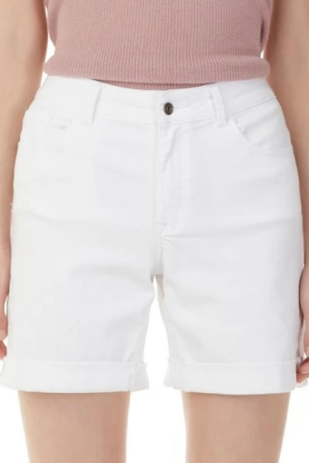 Charlie B. White Cuffed Shorts - Main Image